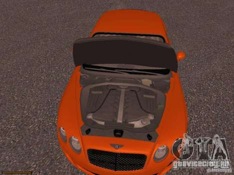 Bentley Continetal SS Dubai Gold Edition для GTA San Andreas вид изнутри