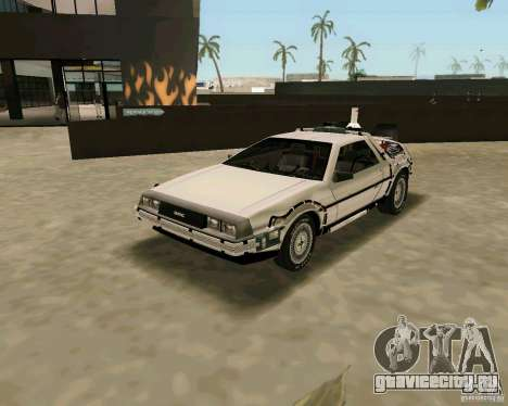 BTTF DeLorean DMC 12 для GTA Vice City вид справа