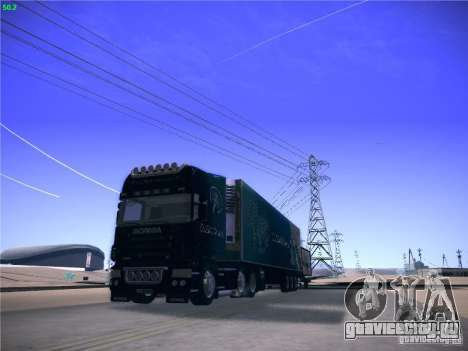 Scania R620 Dubai Trans для GTA San Andreas вид сзади
