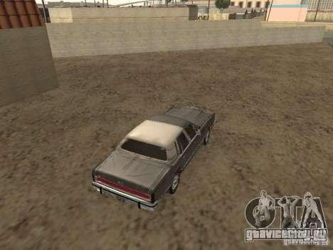 Lincoln Town Car 1986 для GTA San Andreas вид сзади слева