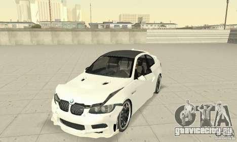 BMW M3 2008 Hamann v1.2 для GTA San Andreas вид сверху