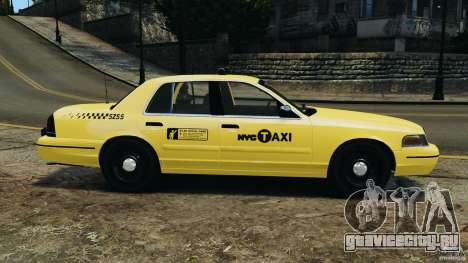 Ford Crown Victoria NYC Taxi 2004 для GTA 4 вид слева