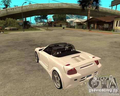 Toyota MRS2 Veilside для GTA San Andreas вид слева