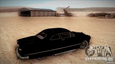 Ford Coupe Custom 1949 для GTA San Andreas вид сзади