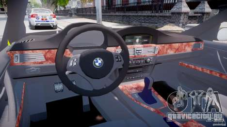 BMW 350i Indonesian Police Car [ELS] для GTA 4 вид справа
