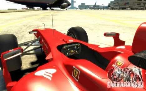 2010 Scuderia Ferrari F10 для GTA 4 вид справа