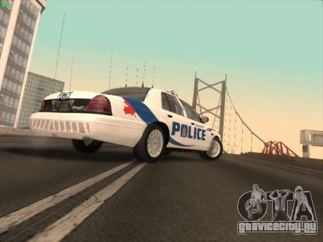 Ford Crown Victoria Vancouver Police для GTA San Andreas вид сзади слева
