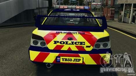 Subaru Impreza British ANPR [ELS] для GTA 4 двигатель
