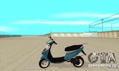 GTAIV Faggio для GTA San Andreas вид слева