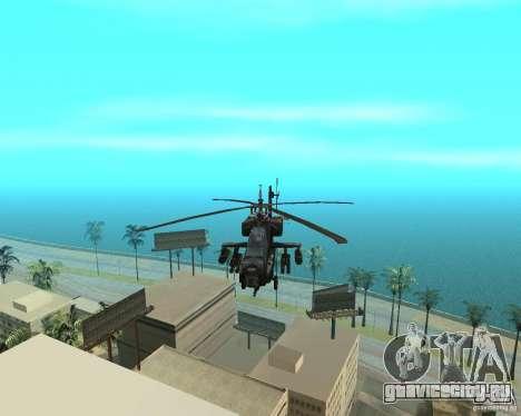 КА-50 Чёрная Акула для GTA San Andreas вид изнутри