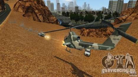 Bell AH-1 Cobra для GTA 4 вид изнутри