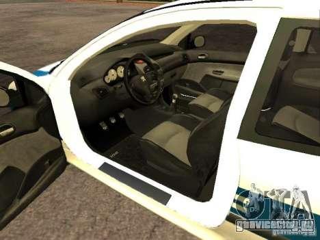 Peugeot 206 Police для GTA San Andreas вид сзади слева