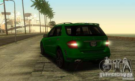 Mercedes-Benz ML63 AMG Brabus для GTA San Andreas вид изнутри