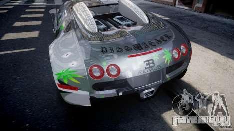 Bugatti Veyron 16.4 v1.0 new skin для GTA 4 вид снизу