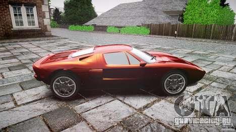 Ford GT для GTA 4 вид изнутри