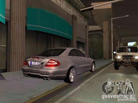 Mercedes-Benz CLK55 AMG для GTA San Andreas вид сбоку