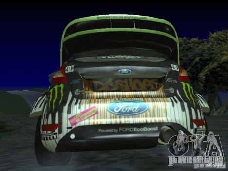Ford Fiesta Ken Block WRC для GTA San Andreas вид сзади слева