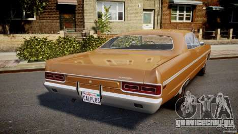 Plymouth Fury III Coupe 1969 для GTA 4