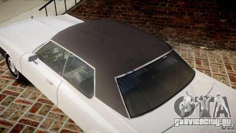 Dodge Monaco 1974 для GTA 4 вид сверху