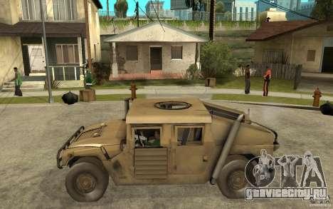 Hummer H1 War Edition для GTA San Andreas вид слева
