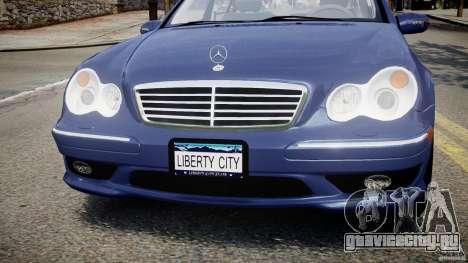 Mercedes-Benz C32 AMG 2004 для GTA 4 вид сверху