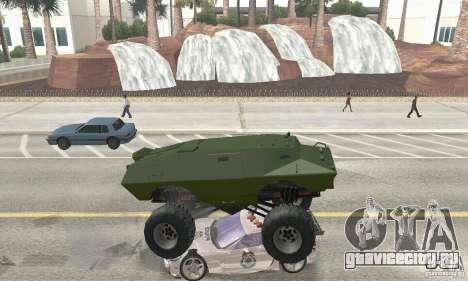 Trail Monster V.1.0 для GTA San Andreas вид изнутри