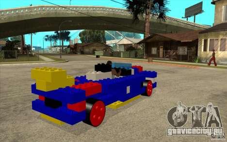 LEGO мобиль для GTA San Andreas вид справа
