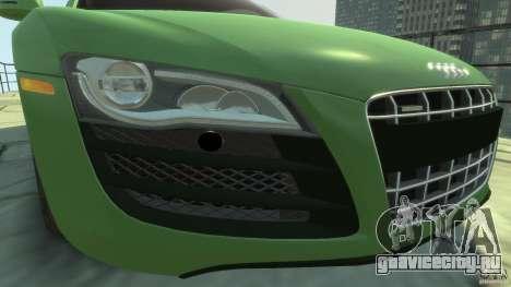 Audi R8 5.2 FSI quattro v1 для GTA 4 вид изнутри