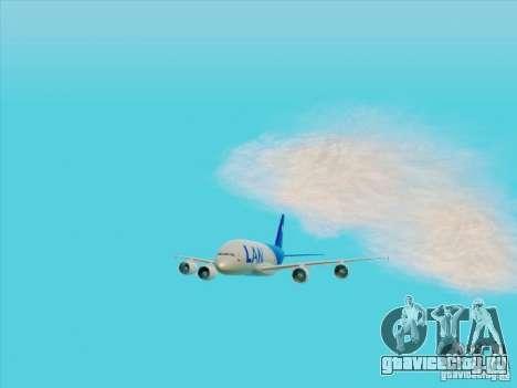 Airbus A380-800 Lan Airlines для GTA San Andreas вид сзади