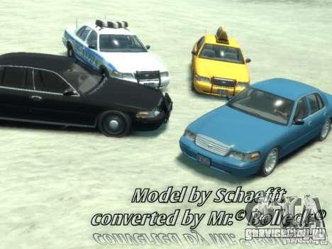 Ford Crown Victoria Taxi для GTA 4 вид слева
