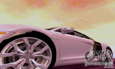 Audi R8 V10 5.2. FSI для GTA San Andreas вид сзади слева