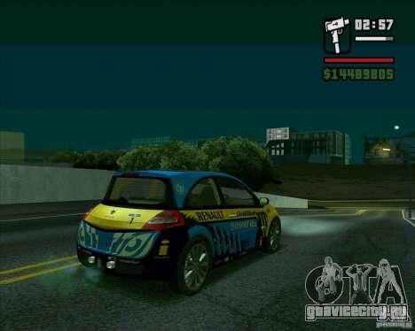 Renault Megane II RS для GTA San Andreas вид сзади слева