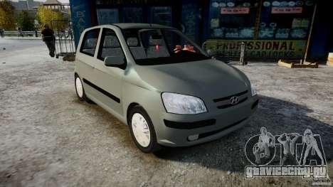 Hyundai Getz 2005 для GTA 4 вид справа