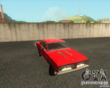 Plymouth Barracuda 1968 для GTA San Andreas вид справа