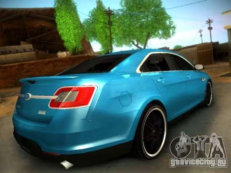 Ford Taurus SHO 2011 для GTA San Andreas вид сзади слева
