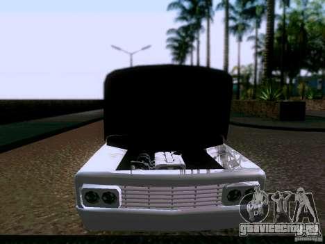 Slamvan Tuned для GTA San Andreas вид сзади