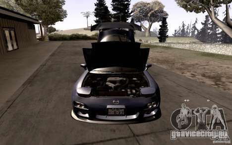 Mazda RX-7 Hellalush для GTA San Andreas салон