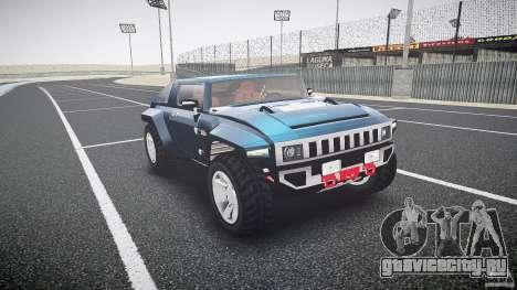 Hummer HX для GTA 4 вид сзади