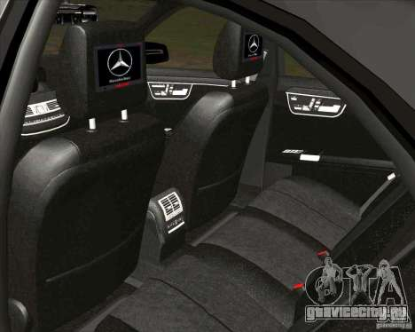 Mercedes-Benz S65 AMG W221 для GTA San Andreas вид сзади