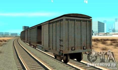 Товарный вагон для GTA San Andreas вид сзади слева
