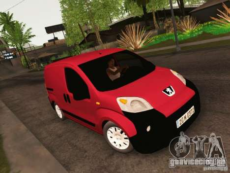 Peugeot Bipper для GTA San Andreas вид изнутри