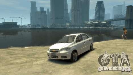 Chevrolet Aveo 2007 для GTA 4 вид слева