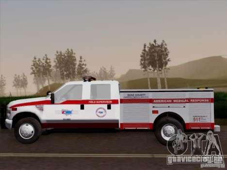 Ford F-350 AMR Supervisor для GTA San Andreas вид сбоку