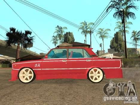 ВАЗ 2107 Sparky для GTA San Andreas вид слева