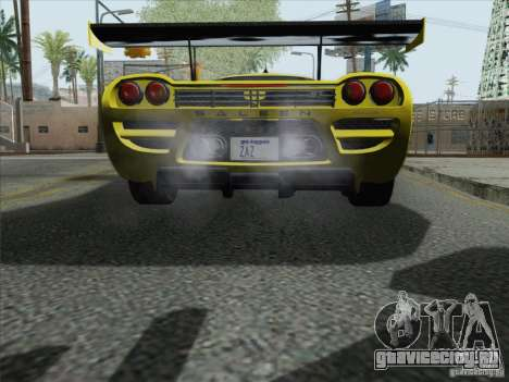 Saleen S7 Twin Turbo Competition Custom для GTA San Andreas вид сзади