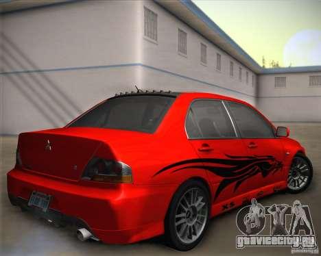 Mitsubishi Lancer Evolution IX Tunable для GTA San Andreas салон