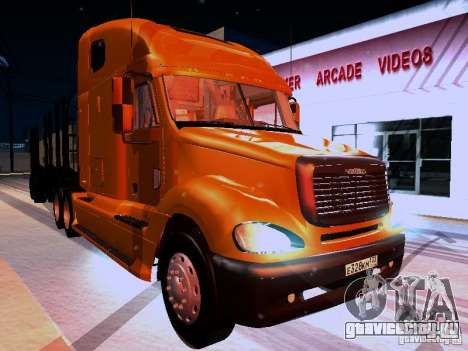 Freightliner Columbia для GTA San Andreas вид сзади