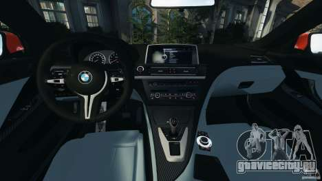 BMW M6 F13 2013 v1.0 для GTA 4 вид сзади