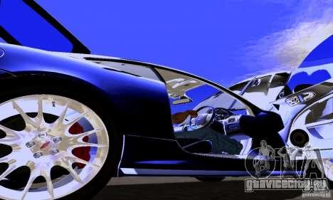 Jaguar XKRS для GTA San Andreas вид изнутри