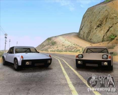 Porsche 914-6 для GTA San Andreas вид сверху
